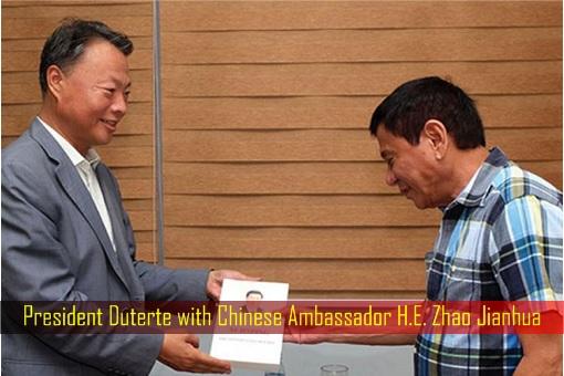President Duterte with Chinese Ambassador H.E. Zhao Jianhua