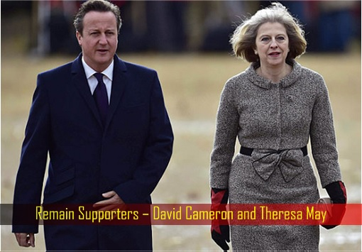 Remain Supporters – David Cameron and Theresa May