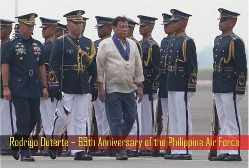 Rodrigo Duterte – 69th Anniversary of the Philippine Air Force