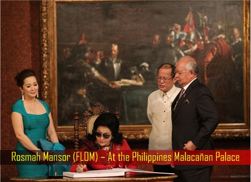 Rosmah Mansor (FLOM) – At the Philippines Malacañan Palace