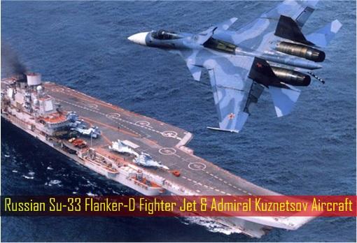 Russian Su-33 Flanker-D Fighter Jet & Admiral Kuznetsov Aircraft