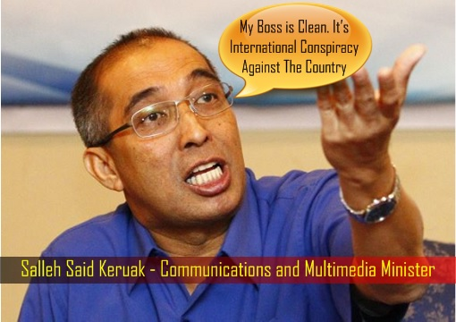 Salleh Said Keruak - Communications and Multimedia Minister - Najib is Clean on 1MDB Scandal