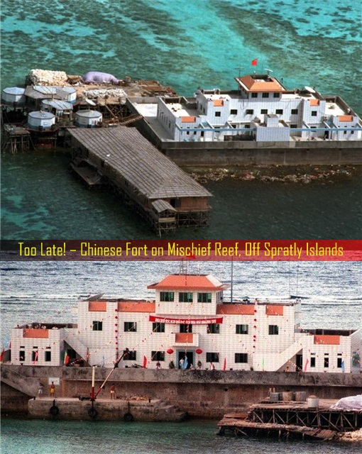 South China Sea Dispute - Too Late for Philippines - Chinese Fort At Mischief Reef