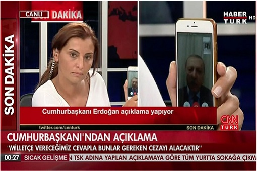 Turkey Military Coup D'état - President Erdogan on Apple iPhone Facetime - Turk CNN