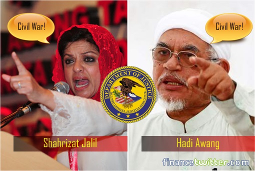 US DOJ Lawsuits - 1MDB - Shahrizat Jalil and Hadi Awang Reactions