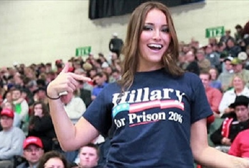 US Election 2016 - Wearing Hillary Clinton for Prison 2016 T-Shirt