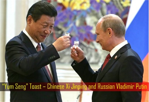 Yum Seng Toast – Chinese Xi Jinping and Russian Vladimir Putin