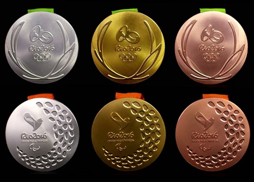 2016 Rio Olympic Medals - Gold, Silver and Bronze