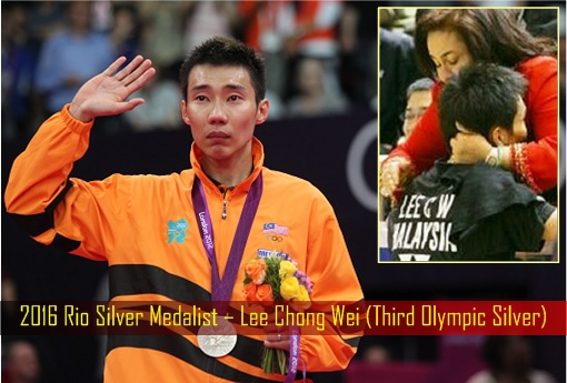 2016 Rio Silver Medalist – Lee Chong Wei (Third Olympic Silver)