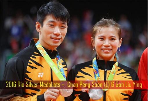2016 Rio Silver Medalists – Chan Peng Soon & Goh Liu Ying