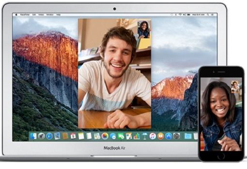 Apple Facetime between Macbook and iPhonre