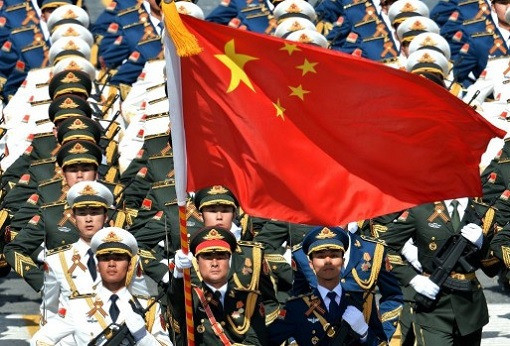 China Security Forces Marching