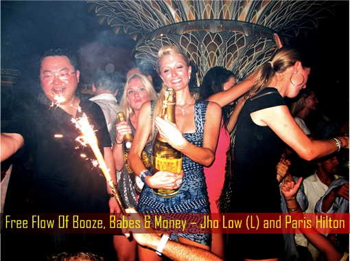 Free Flow Of Booze, Babes & Money – Jho Low and Paris Hilton