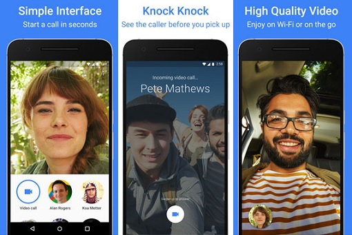 Google Duo - Simple Interface - Knock Knock - High Quality Video