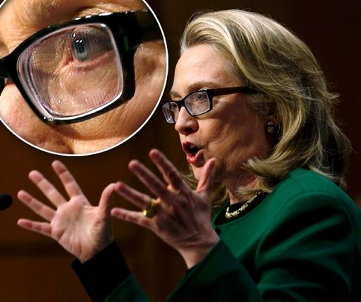 Hillary Clinton - Sick - Fresnel prism glasses