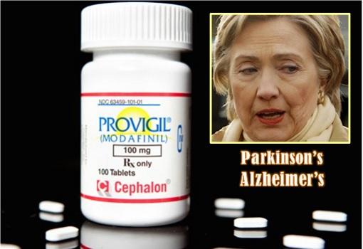 Hillary Clinton - Sick - Provigil Drug - Parkinson's or Alzheimer's