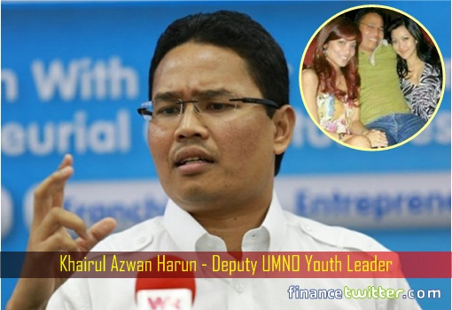 Khairul Azwan Harun - Deputy UMNO Youth Leader - Inset Hugging Two Sexy Girls