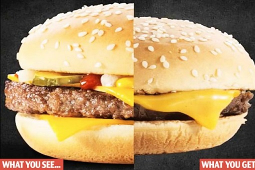 McDonald's Hamburger - What You See - What You Get