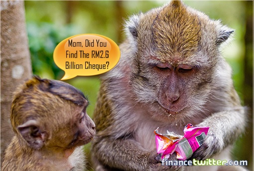 Mischievous Monkey Stealing Classified Letters - RM2.6 Billion Cheque