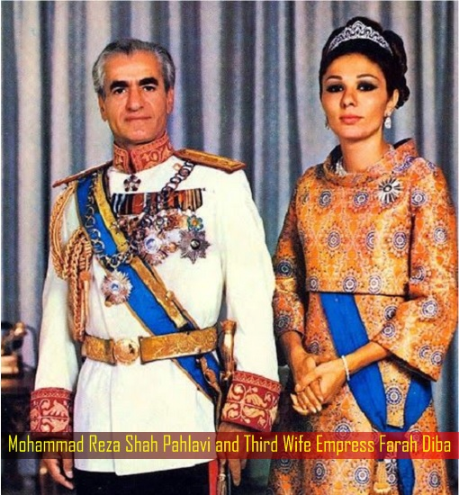 Mohammad Reza Shah Pahlavi and Third Wife Empress Farah Diba