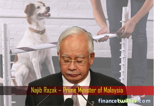 Najib Razak - USA Asks To Jump - Can Only Ask How High - Dog Learning To Jump