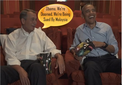 Obama and Boehner joking - United States Sued by Malaysia - 1MDB Scandal