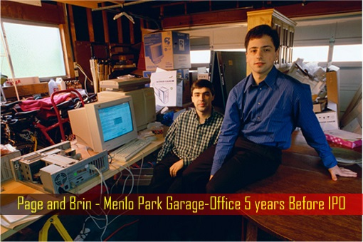 Page and Brin - Menlo Park Garage-Office 5 years Before IPO