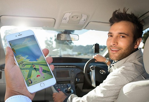 Play Pokemon Using Ride-Sharing Car