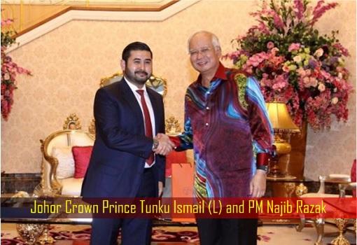 Tea Session - Johor Crown Prince Tunku Ismail and PM Najib Razak