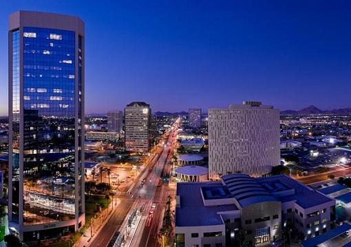 United States USA - Phoenix Arizona Night View