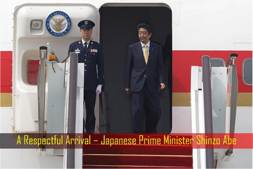 A Respectful Arrival – Japanese Prime Minister Shinzo Abe