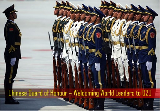 Chinese Guard of Honour – Welcoming World Leaders to G20