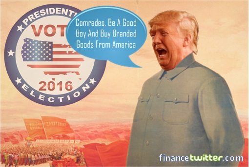 Donald Trump Anti-China - Urging Comrades Buy Branded Goods From America