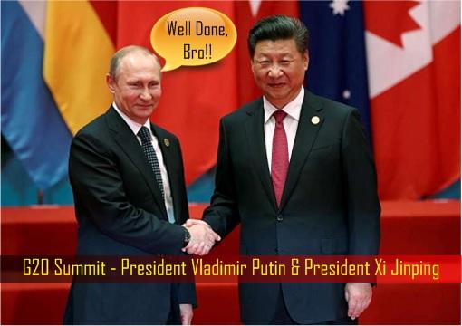 Group of 20 Summit – President Vladimir Putin Congratulates President Xi Jinping