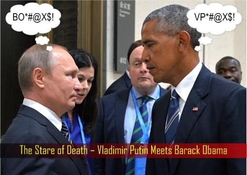 Group of 20 Summit China 2016 – The Stare of Death – Vladimir Putin Meets Barack Obama