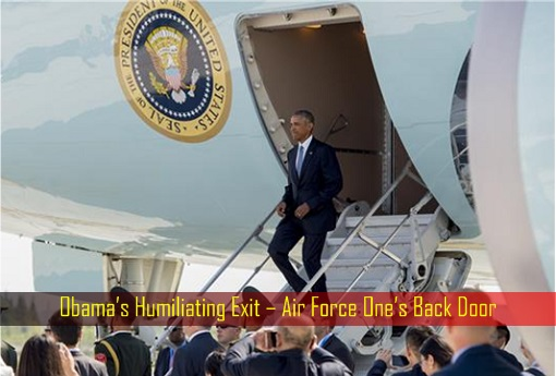 Obama's Humiliating Exit – Air Force One's Back Door - G20 Summit at Hangzhou, China