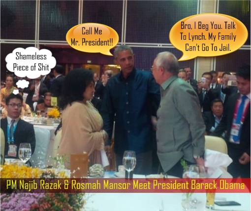 pm-najib-razak-and-rosmah-mansor-meet-president-barack-obama-begging-for-help