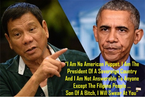 Philippine President Rodrigo Duterte Calls US President Barack Obama - Son of A Bitch