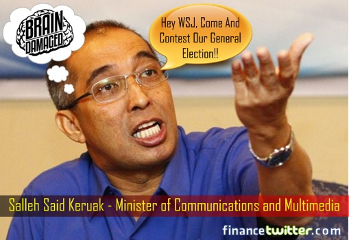 salleh-said-keruak-minister-of-communications-and-multimedia-brain-damaged-challenge-wsj-to-general-election