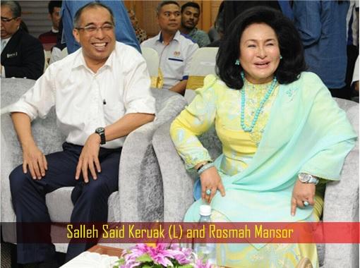 salleh-said-keruak-and-rosmah-mansor-laughing