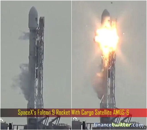 SpaceX's Falcon 9 Rocket With Cargo Satellite AMOS-6