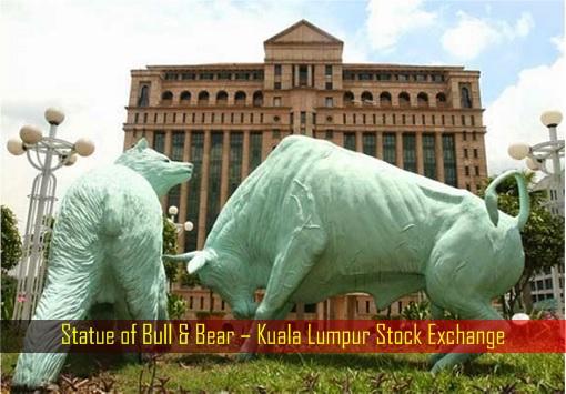 Statue of Bull & Bear – Kuala Lumpur Stock Exchange