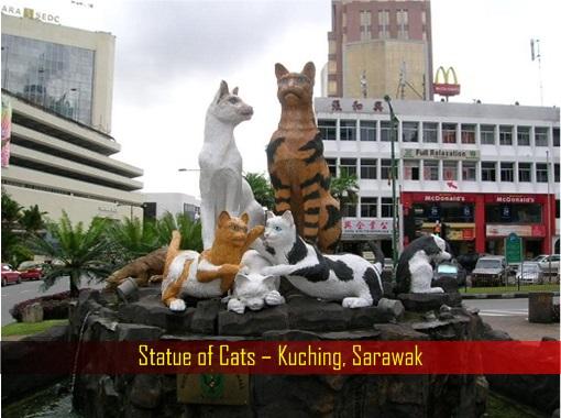Statue of Cats - Kuching - Sarawak