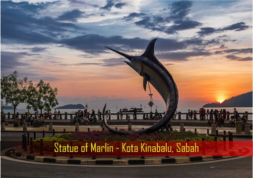 Statue of Marlin - Kota Kinabalu, Sabah