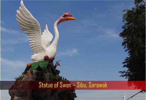 Statue of Swan – Sibu, Sarawak