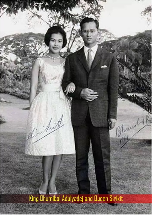 king-bhumibol-and-queen-sirikit-signed-photo