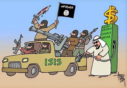 saudi-arabia-and-qatar-sponsor-isis-terrorist-cartoon