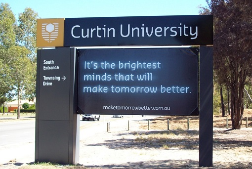 curtin-university-south-entrance-signboard
