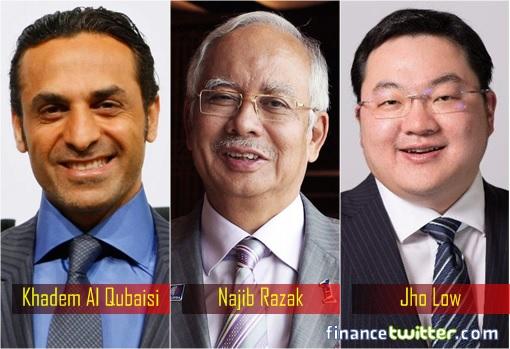 Image result for 1mdb-crooks-khadem-al-qubaisi-najib-razak-and-jho-low