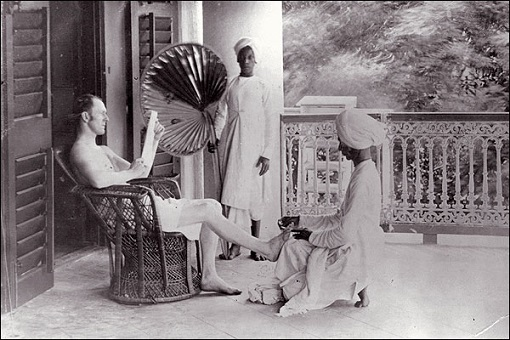 british-colonization-of-india-indian-cleaning-briton-foot